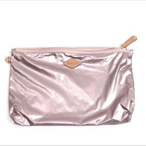 MZ WALLACE Pouch Travel Case Makeup Bag Rose Gold